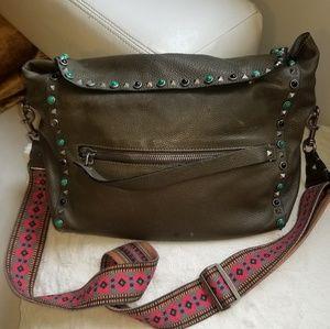 Valentino Unisex Studded Messenger Bag!